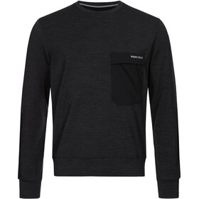 super.natural Alpine Crew Sweater Men, jet black melange/jet black